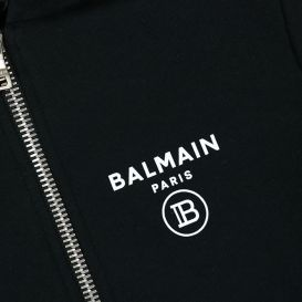 Balmain Zip Up Sweatshirt Black