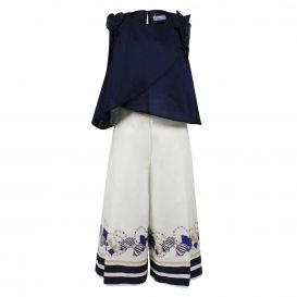 Trousers Set Navy & White