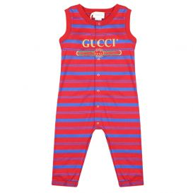 Gucci Romper Red and Blue