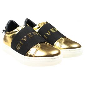 Gold Slip On Trainers
