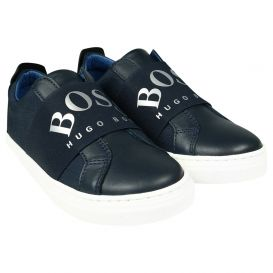 Silver Capsule Trainers Navy