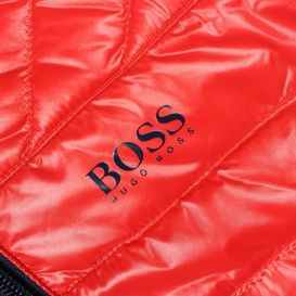 Reversible Hooded Puffer Jacket Red & Navy
