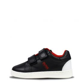 Red Logo Trainers Black