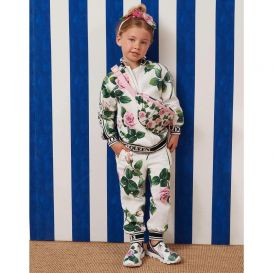 Floral Logo Tape Tracksuit White