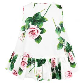 Girls Floral Blouse White