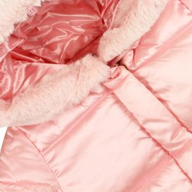 Pink Hooded Puffer Coat