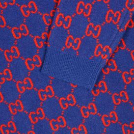 Iconic Logo Knit Jumper Blue
