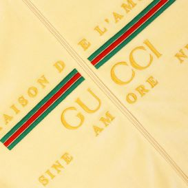 Gucci Velour Chenille Jacket Gold