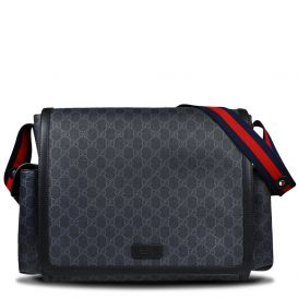 Black GG Canvas Changing Bag