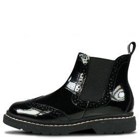 Noelle Chelsea Boots Black Patent Leather