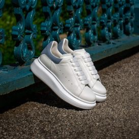 Oversized White & Blue Trainers