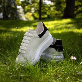 Oversized White & Black Trainers