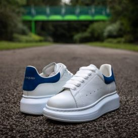 Oversized White and Navy Trainers
