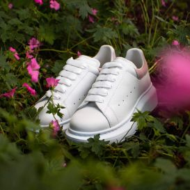 Oversized White & Pink Trainers