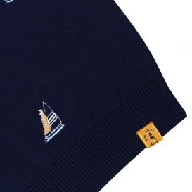 Navy Embroidered Jumper
