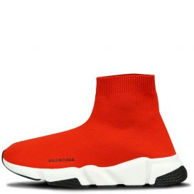 Black Logo Sock Trainers Red