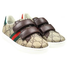 Brown GG Velcro Trainers