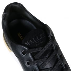 Black & Gold Low Trainers