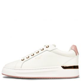 Low Top White & Pink Trainers