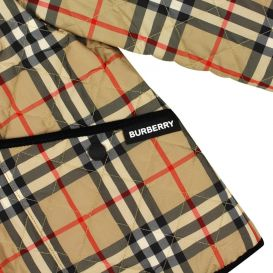 Culford Vintage Check Quilted Jacket Beige
