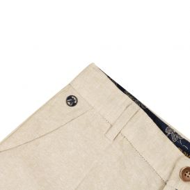 Linen Chino Trousers Beige