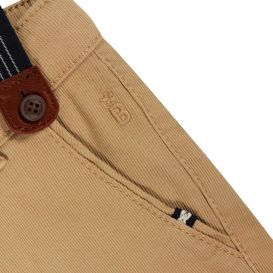 Chino Pants With Braces Ochre Brown