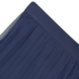 Pleated Chiffon Trousers Navy