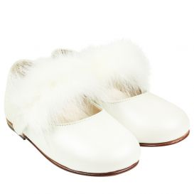 Feather Strap Shoes Ivory