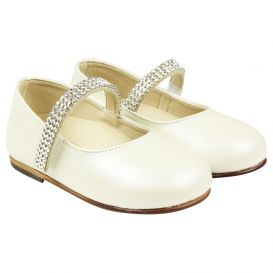 Swarovski Strap Shoes Ivory
