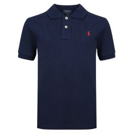 Custom Fit Short Sleeve Polo Shirt French Navy