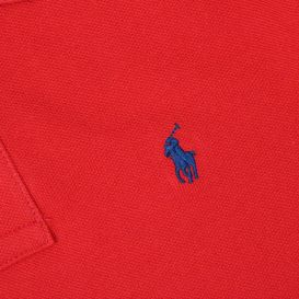 Slim Fit Long Sleeve Polo Shirt Red