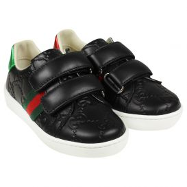 Black GG Ace Trainers