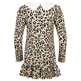 Leopard Jersey Dress Beige