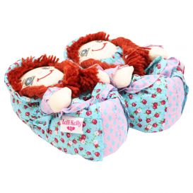 Doll Slippers Blue