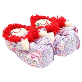 Red Hair Doll Slippers Purple