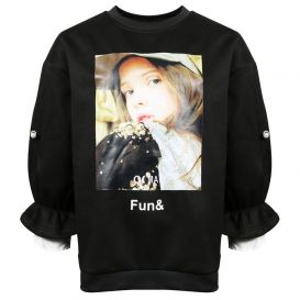Fun & Fun Maxi Sweatshirt Black