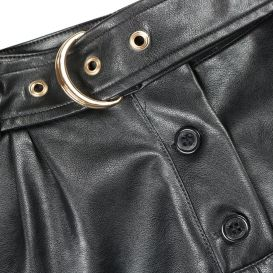 Fun & Fun faux Leather Shorts Black