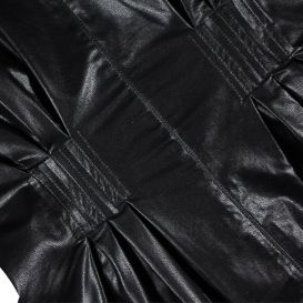 Fun & Fun Faux Leather Dress Black