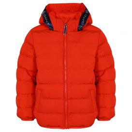 Lock Up Puffer Jacket Red