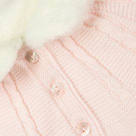 Sarah Louise Pink Knitted Poncho