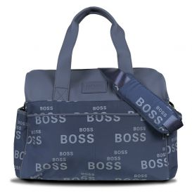 Repeat Logo Changing Bag Navy