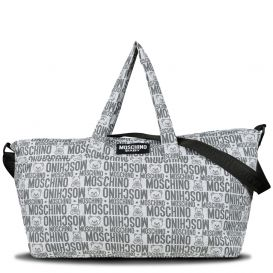 Repeat Logo Changing Bag Grey