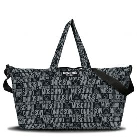 Repeat Logo Changing Bag Black