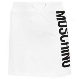 White Logo Skirt