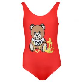 Teddy Anchor Swimsuit Red