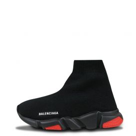 Side Logo Sock Trainers Black & Red