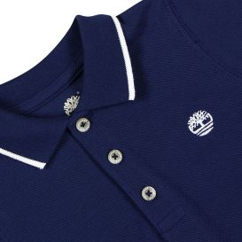 Contrast Trim Infant Navy Polo Shirt