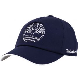 Navy Embroidered Logo Cap