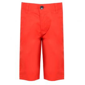 Cotton Bermuda Shorts Red