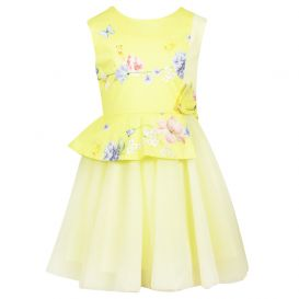 Floral Duckling Dress Yellow